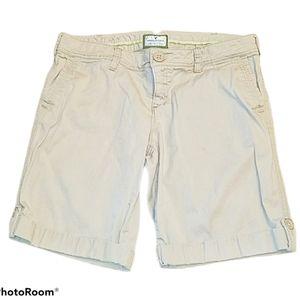 American Eagle Shorts Chinos Bermuda Khaki Size 10